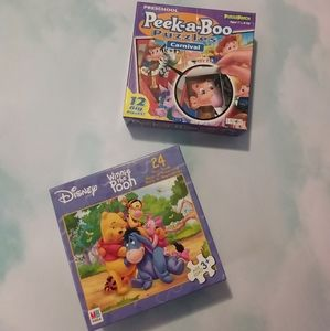 2 small puzzles for young children